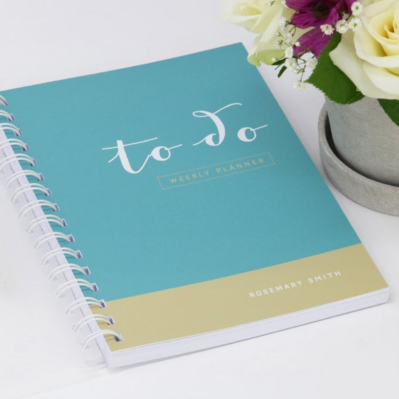 Personalised 'To Do' Weekly Planner Journal