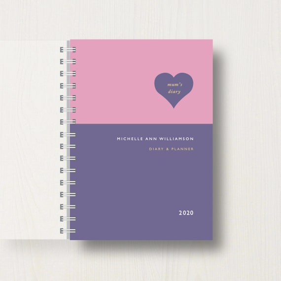 Personalised 2020 Diary For Mum
