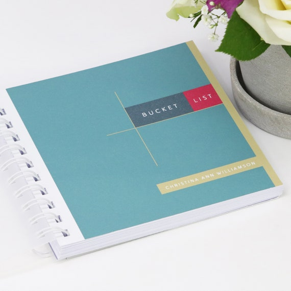 Personalised Bucket List Small Notebook