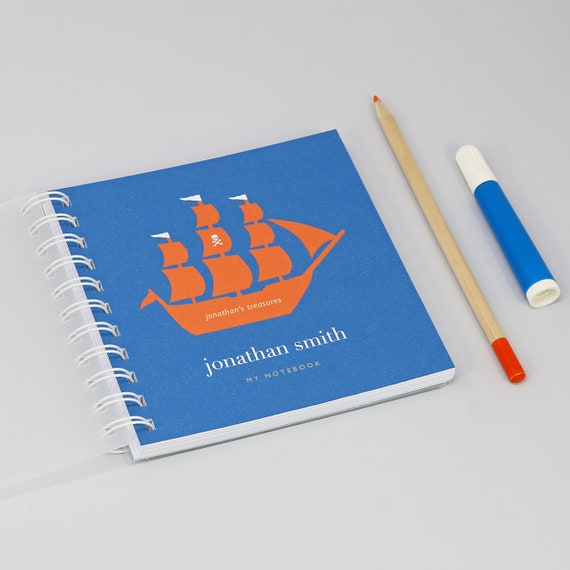 Personalised Children's Pirate Ship Small Notebook
