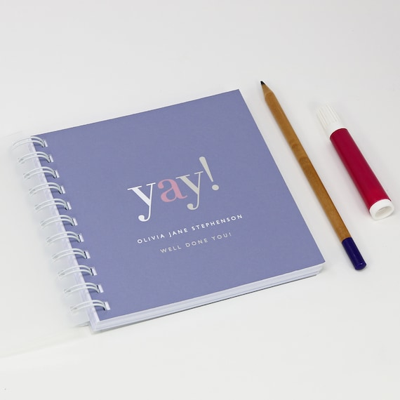 Personalised 'Yay!' Small Notebook