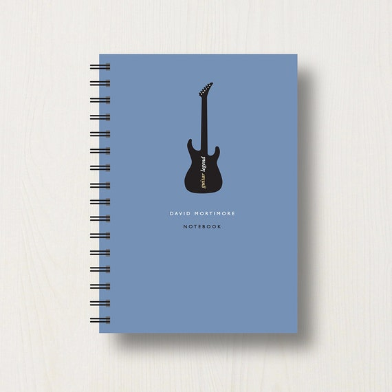 Personalised Guitar Music Lover's Journal or Notebook