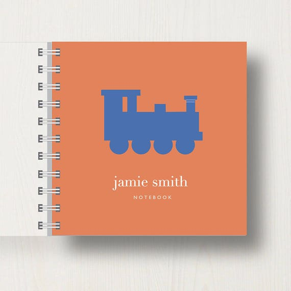 Personalised Kid's Train Small Notebook