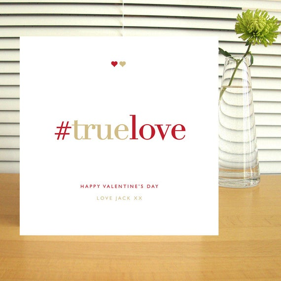 Personalised #truelove Valentine's Card