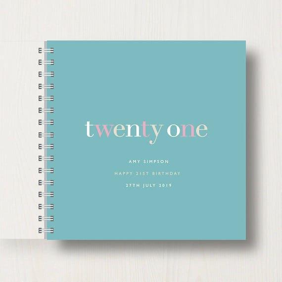 Personalised 21st Birthday Memories Book or Album