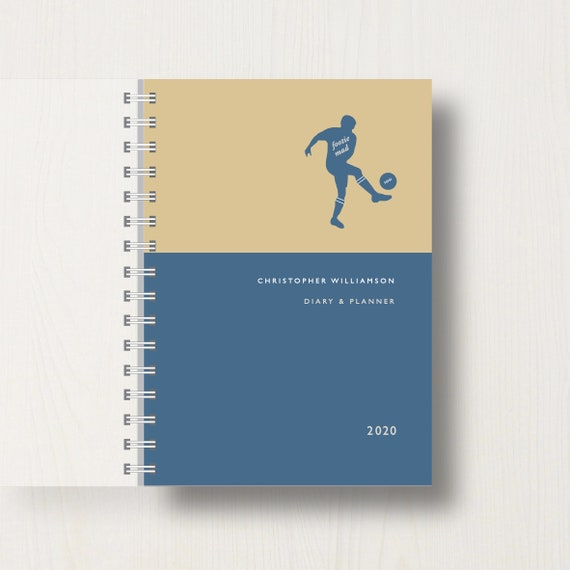 Personalised 2020 Diary For Football Lovers