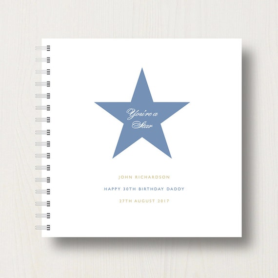 Personalised Special Dad Star Memory Book or Album