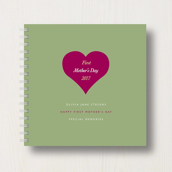 Personalised 1st Mother's Day Memory Book or Album