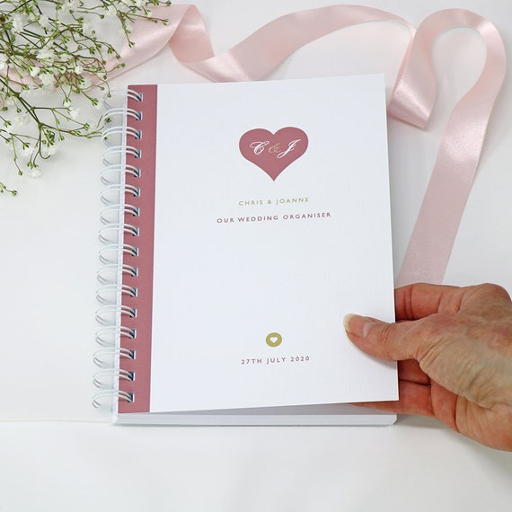 Personalised Heart Wedding Planner Handbook