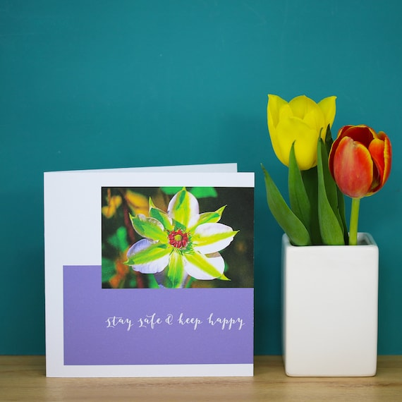 Personalised Clematis Flower Card