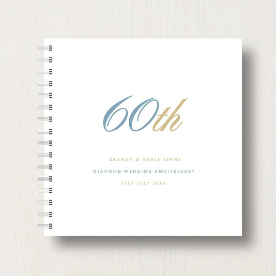 Personalised 60th Diamond Anniversary Book or Album