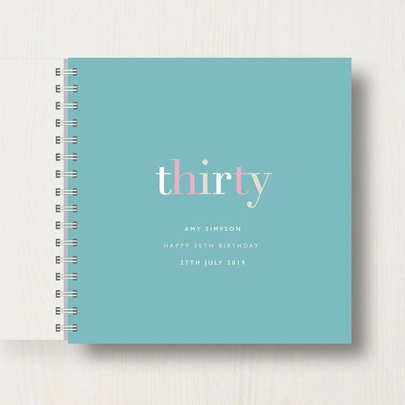 Personalised 30th Birthday Memory Book or Album