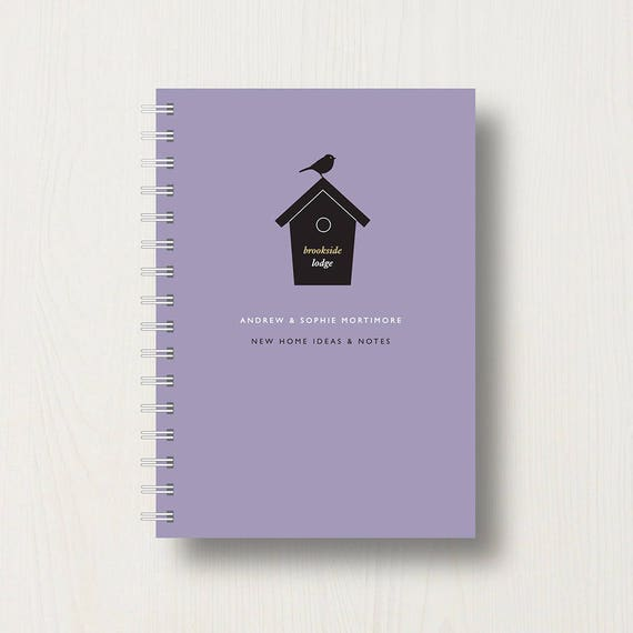 Personalised New 'Home Sweet Home' Journal or Notebook