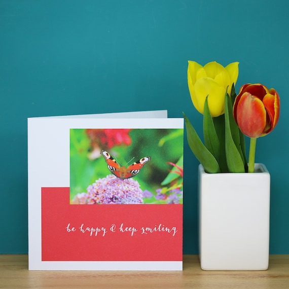 Personalised Butterfly on Flower Card