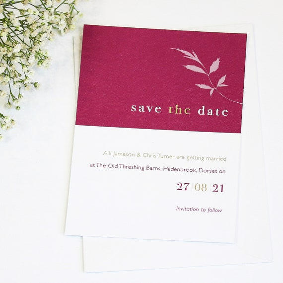 Wedding Date Floral Save The Date Card