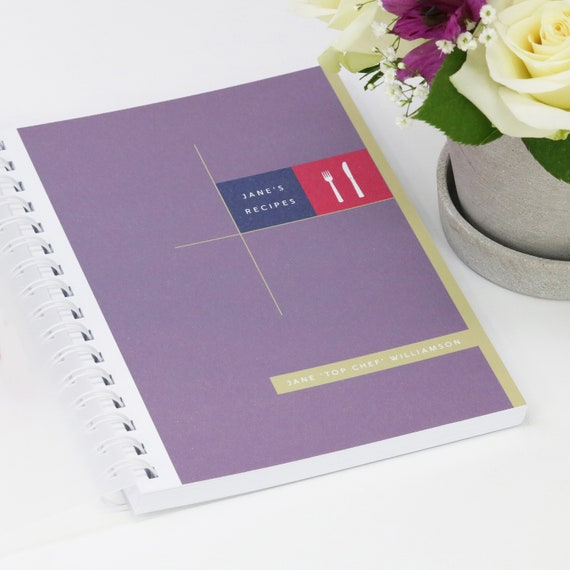 Personalised Foodie's Recipe Journal
