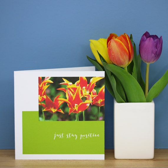 Personalised Tulip Flower Card