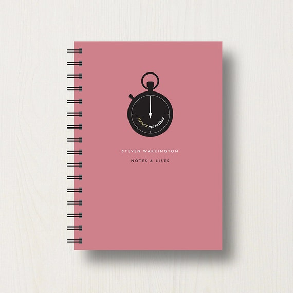 Personalised Running Lover's Journal or Notebook