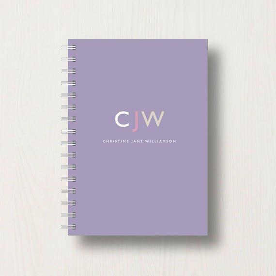 Personalised Monogram 'Modern' Initials Journal