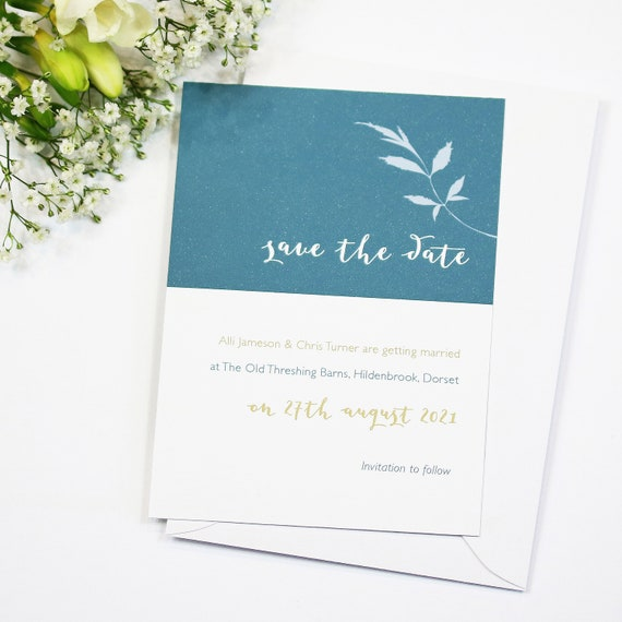 Wedding Floral Save The Date Card