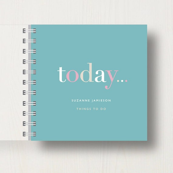 Personalised 'Today' To Do List Small Notebook