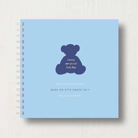 Personalised New Baby, Early Years, 'Bear' Keepsake Album