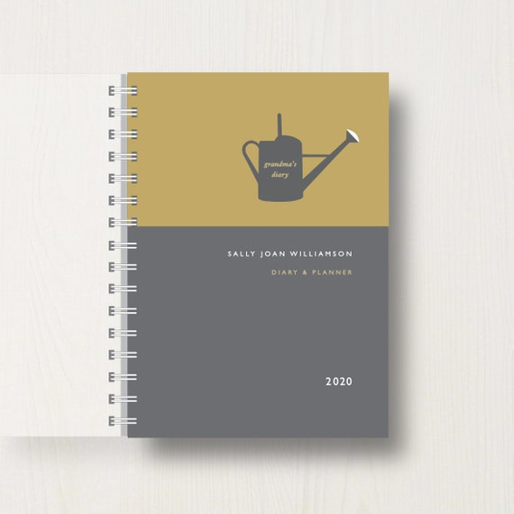 Personalised 2020 Diary For Garden Lovers