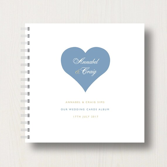 Personalised Wedding Heart Cards Book or Album