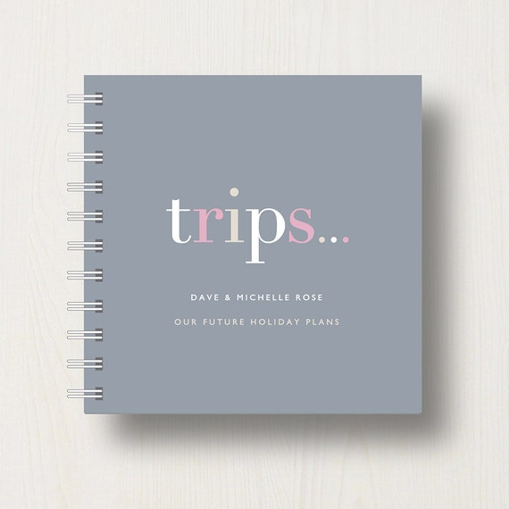 Personalised 'Trips' Small Notebook