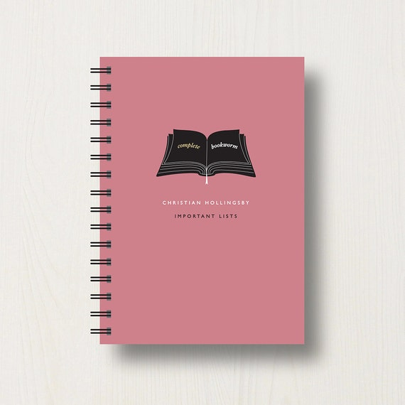 Personalised Book Lover's Journal or Notebook