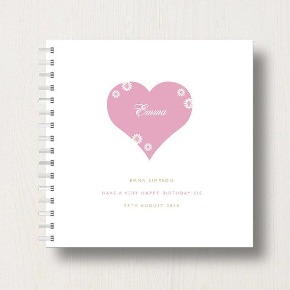 Personalised Sister's Memories Book or Album