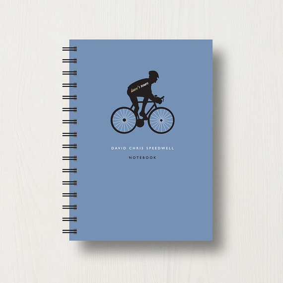 Personalised Cycling Lover's Journal or Notebook