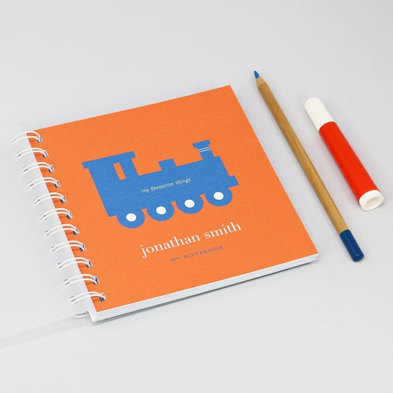 Personalised Children's Train Small Notebook