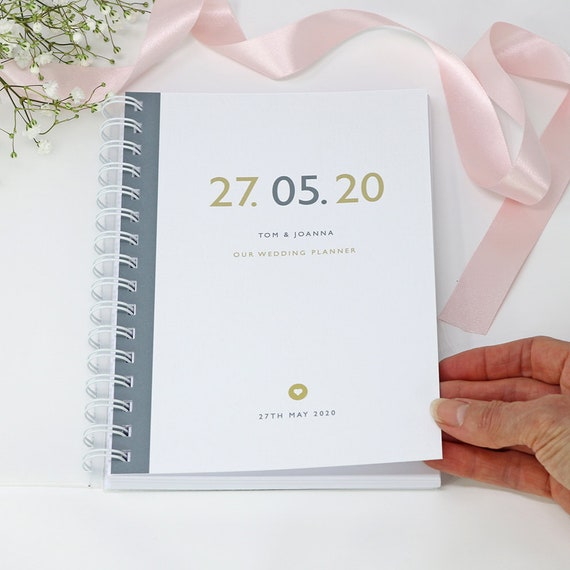 Personalised Date Wedding Planner Handbook