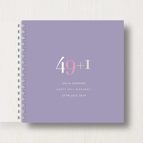 Personalised 50th Birthday Memory Book/Album
