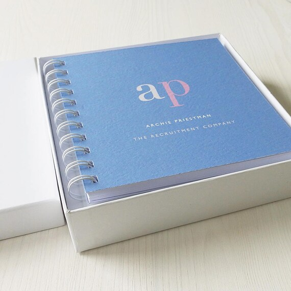 White Laminated Small Notebook Gift Box (notebook NOT INCLUDED)