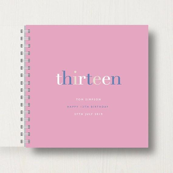 Personalised 13th Birthday Memories Book or Album