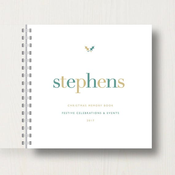 Personalised Family Christmas Book or Album