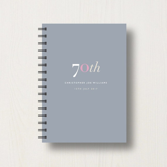 Personalised 70th Journal or Notebook