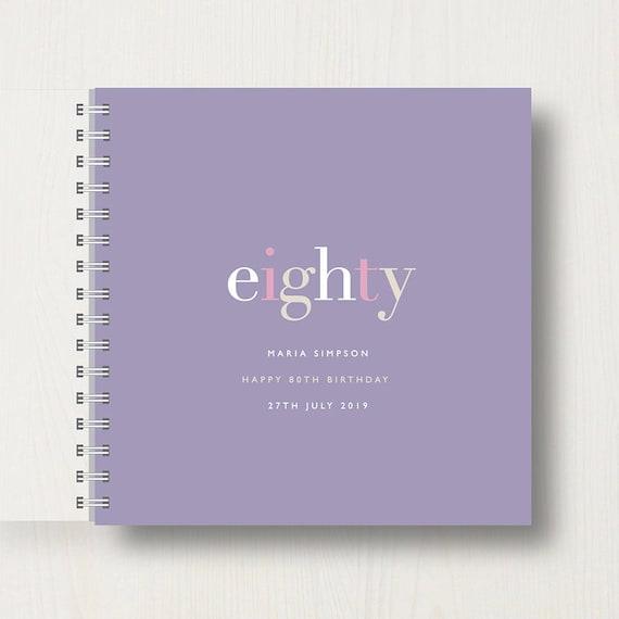 Personalised 80th Birthday Memory Book or Album