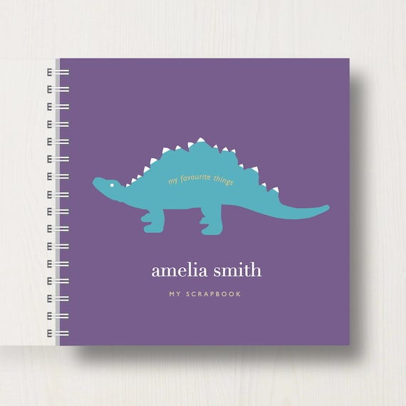 Personalised Kid's Dinosaur Memory Book Or Scrapbook