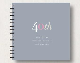 Personalised 40th Birthday Memories Book or Album