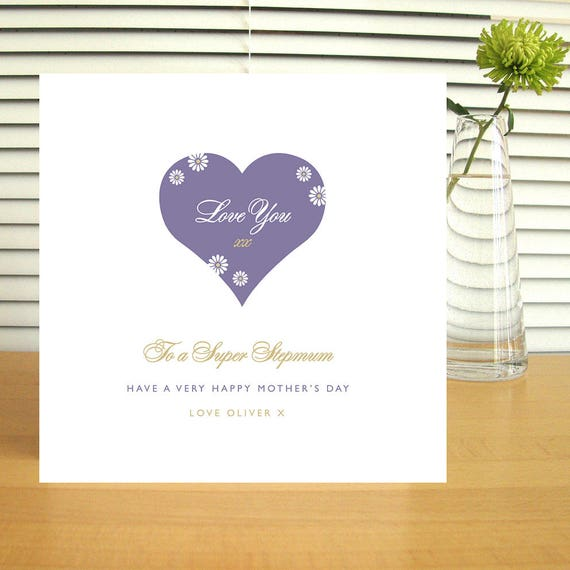 Personalised Stepmother Mother's Day Card