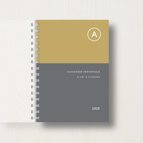 Personalised 2020 Diary With Single Initial Monogram