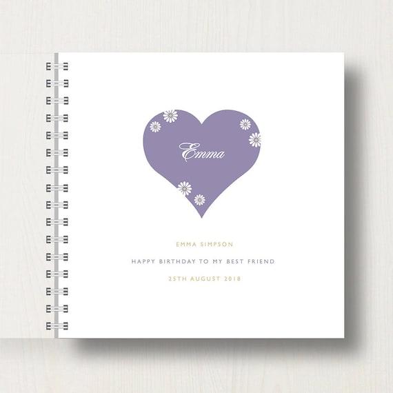 Personalised Best Friend Memory Book or Album