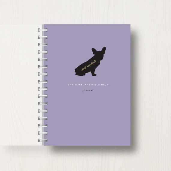 Personalised French Bulldog Lovers Journal Or Notebook