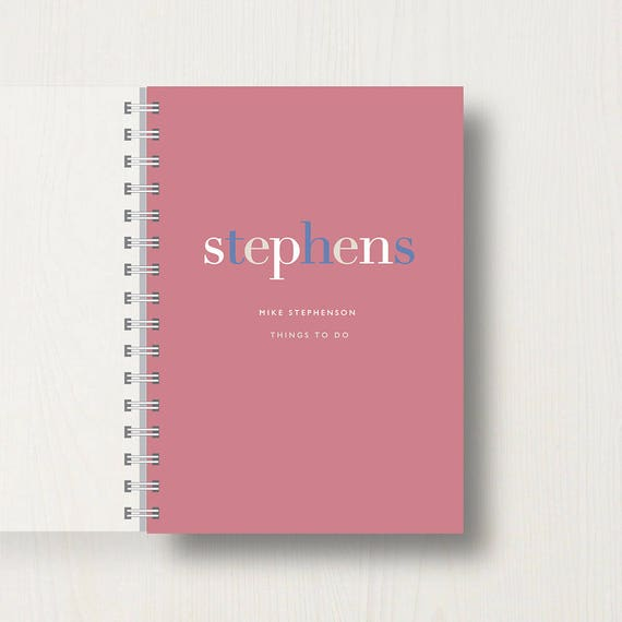 Personalised Family Journal or Notebook