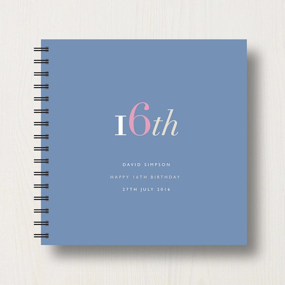Personalised 16th Birthday Memories Book or Album