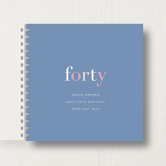 Personalised 40th Birthday Memory Book or Album