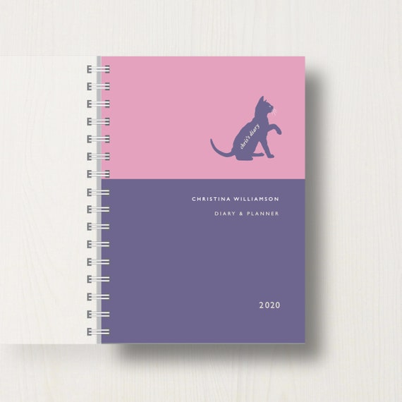 Personalised 2020 Diary For Cat Lovers